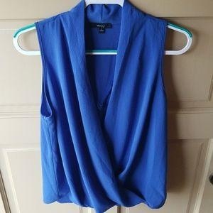 **2 for $15** Dressy true blue sleeveless top